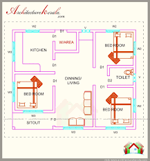 1000 sq feet house plans. 700 Square Feet Three Bedroom House Plan And Elevation, Below 1000 Sq Plans