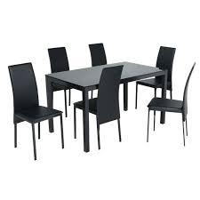 Table Avec Chaise Table Avec 4 Chaises Encastrables Marron
