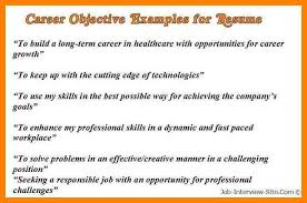6 Career Goals Statement Examples Letter Adress