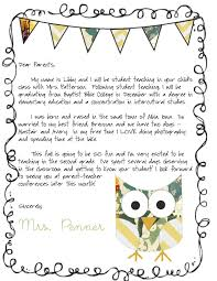 Letters For A Teacher Meet The Teacher Letter Student Teaching Letter To