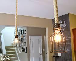 diy industrial pendant light bless er house