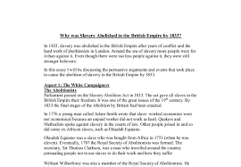 why was slavery abolished in the british empire by a level document image preview