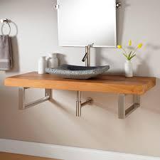 wall mount bathroom sink with towel bar  ansel golden mahogany