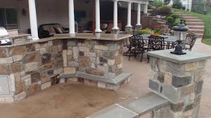 stamped concrete patio with fireplace. Architectural Concrete Design (215) 946-5039 Patio Builders Bucks County PA Stamped With Fireplace
