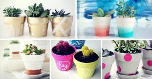 painted clay pots 25 simple diy ways to customize paint terra cotta pots homelovr