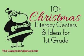 Print the worksheets about christmas and complete the exercises to help you practise your english! Christmas Literacy Stations Activities For First Grade