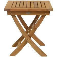 charles bentley small square foldable side table fsc hardwood garden furniture home done