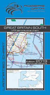 Vfr Aeronautical Charts Vfr Aeronautical Chart Great Britain South 2019 Rogers Data Rogers Gb S