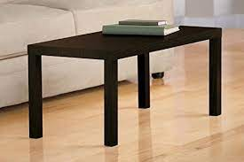 dhp parsons modern coffee table dark