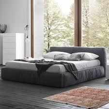 dark grey platform bed by rossetto usa