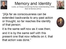 self memory and identity