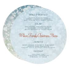 family menu template christmas menu template gifts on zazzle
