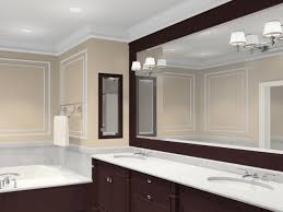 bathroom mirrors. Beautiful Bathroom Mirrors Ideas With Classic Vanity Lamp Design And Brown Color White Faucet Also M