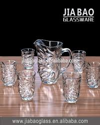 new design 7 pcs set 6 glass 1jug set for water juice drinking