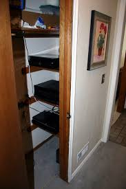 this is the closet i used for my networking and av gear and you can see the air intake at the bottom there is a matching exhaust at the top and both