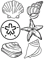 Small Picture Beach Theme Coloring Pages Seashore