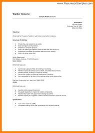 Resume Template Welder Resume Sample Free Career Resume Template