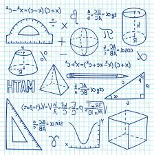 Math Formula Chart For Geometry Photostock Illustration Doodle Maths And Geometry Concept