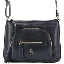 leather small cross bag ela 1261 black vt