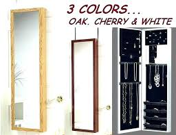 jewelry armoire wall mount full length mirror jewelry mirrored jewelry wall mount over the door jewelry