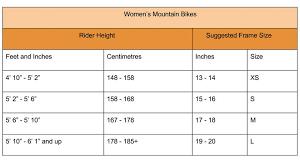Bike Frame Size Guide Hybrid Amtframe Co