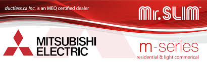 mitsubishi electric heating and cooling ductless air conditioners mitsubishi electric heating and cooling mr slim ductless air conditioners and heat pumps stylized banner