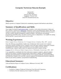 Information Technology Technician Resume Sample Software