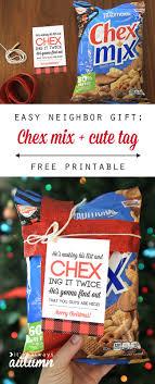 easy neighbor gift idea chex mix cute