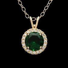 1 5ct halo emerald green created