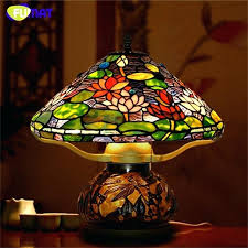stained glass lamp glass art table lamps style lotus stained glass lamp hand made led bedside