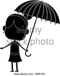 Ragazza Con Ombrello Illustrazione Vettoriale 175599581 Alamy
