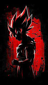 Red Goku HD iPhone Android Wallpapers ...