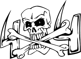 Skull And Cross Of Bones Coloring Pages Get Coloring Pages