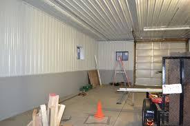 interior corrugated metal garage walls installing