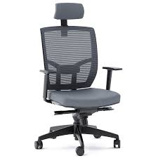 office chair fabric. BDI TC-223 Gray Fabric Office Chair
