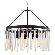 crystorama hollis 10 light bronze chandelier