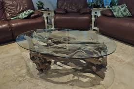 coffee table image driftwood coffee tables with glass top natural styles driftwood coffee table