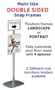 Multiple Poster Display Stands EuroStyle Information POSTOSTAND Double Sided Multi Size Snap 51