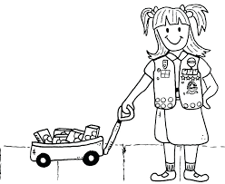 Girl Scout Promise Coloring Page Daisy Scout Coloring Pages Girl