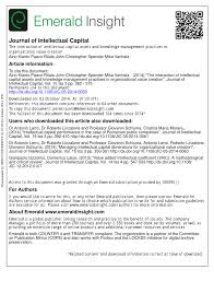 The interaction of intellectual capital assets and knowledge ...