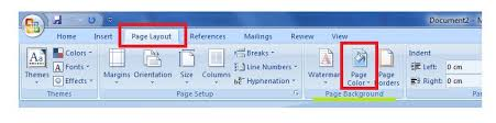 Small Picture How to change the colour of a word document