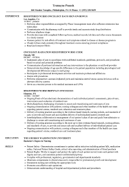 Registered Nurse / Oncology Nurse Resume Samples | Velvet Jobs