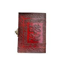 handmade leather journals in celtic dragon style