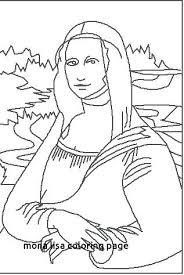 Mona Lisa Coloring Page La Free Online Book Jetpackjoyrideco