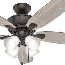 hunter fan 52 in traditional nobel bronze indoor ceiling fan with led light kit