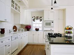Most Popular Kitchen Flooring Kitchen Black Countertop Ideas For White Stylish Kitchen Cabinet