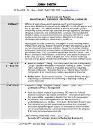 Mechanical Maintenance Engineer Cover Letter Sarahepps Com