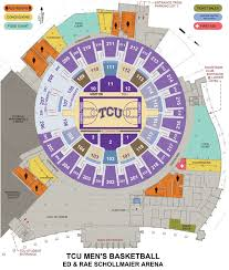 2018 Acc Tournament Seating Chart By School Tcu Basketball Arena Seating Capacity News Today
