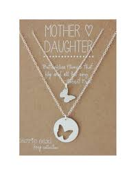 mother daughter necklace set erfly