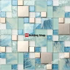 kitchen blue glass backsplash. Blue Glass Mosaic Kitchen Wall Tile SSMT306 Stainless Steel Metal Backsplash Tiles FREE SHIPPING